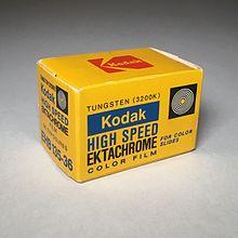 A box of Ektachrome film