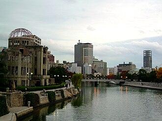 Hiroshima - Atomic Bomb Dome by Jan Letzel and modern Hiroshima