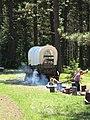 Historic Oregon Trail Wagon and Boys, Wallowa-Whitman National Forest (26197317293).jpg