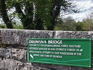 Drumsna - Image: History plaque Drumsna bridge