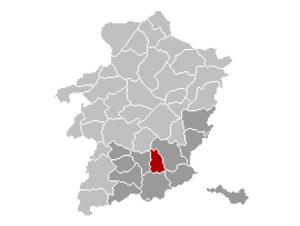 Hoeselt - Image: Hoeselt Limburg Belgium Map