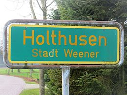 Holthusen village sign 01.JPG
