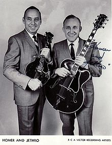"""Jethro"" (left) and ""Homer"", late 1960s"