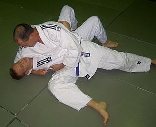 Kesa-gatame Judo technique