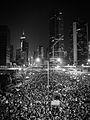 Hong Kong Umbrella Revolution -umbrellarevolution -umbrellamovement -gm1 -lumix -monochrome (15269984528).jpg