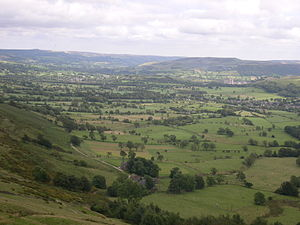 Hope Valley, Derbyshire - The Hope Valley viewed from Mam Tor