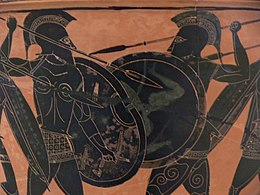 Hoplite fight from Athens Museum.jpg