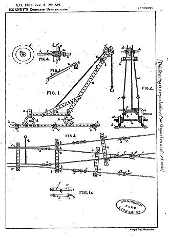 Toy - Frank Hornby's 1901 patent number GB190100587A for what later became known as Meccano