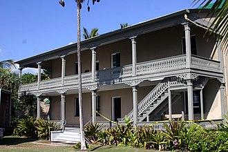 Huliheʻe Palace - Image: Hulihee Palace after earthquake