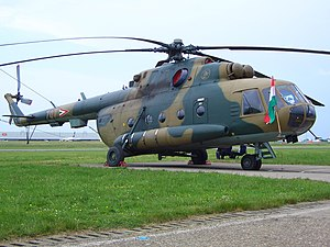 Hungarian Air Force - A Hungarian Mi-17 on display