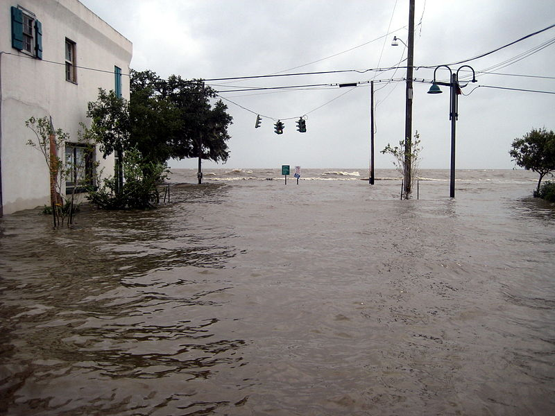 Storm Surge in Louisiana from Hurricane Ike