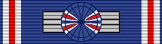 Guðmundur Kjærnested - Ribbon of a Knight Grand Cross of the Order of the Falcon, ribbon