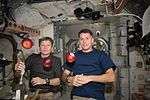 ISS-50 Peggy Whitson and Shane Kimbrough with apples in the Unity node.jpg