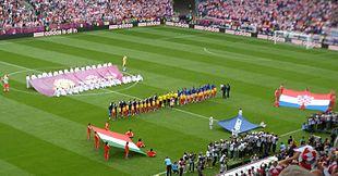 Partido Italia-Croacia en la Eurocopa 2012.