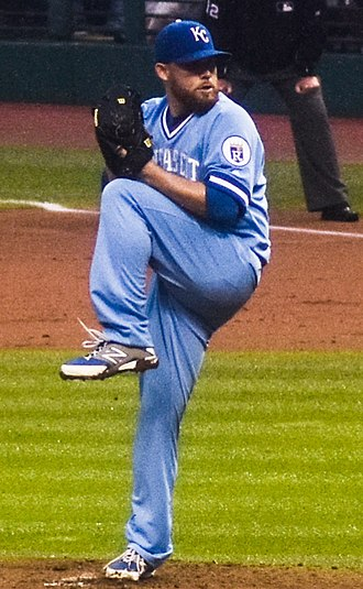 Ian Kennedy - Kennedy pitching for the Kansas City Royals in 2016