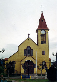 Calbuco City and Commune in Los Lagos, Chile