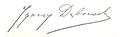 Ignacy Dąbrowski (pisarz) signature.png