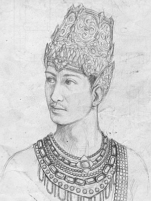 Hayam Wuruk - Illustration of Hayam Wuruk