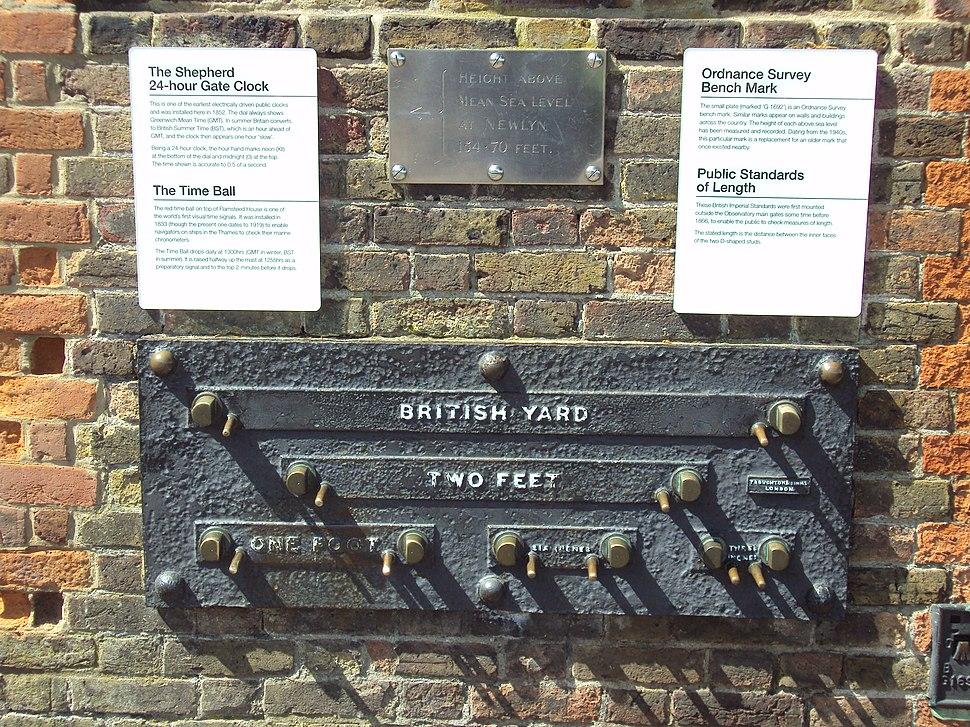 Imperial measurement standards, Greenwich.JPG