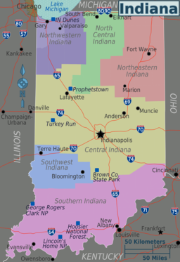 Indiana regions map draft