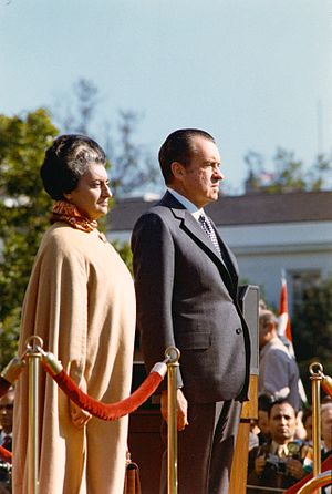Head of government - Prime Minister Indira Gandhi of India and President Richard Nixon of the United States in 1971.