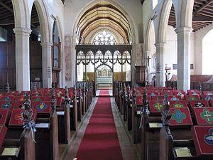 Weston Longville - Image: Inside Weston Longville church