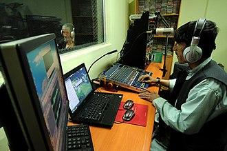 Pashto media - Inside a radio station in Qalat, Afghanistan