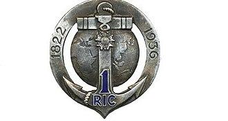 1st Marine Infantry Regiment - Image: Insigne régimentaire du 1er Régiment d'Infanterie Coloniale, 1822 1936