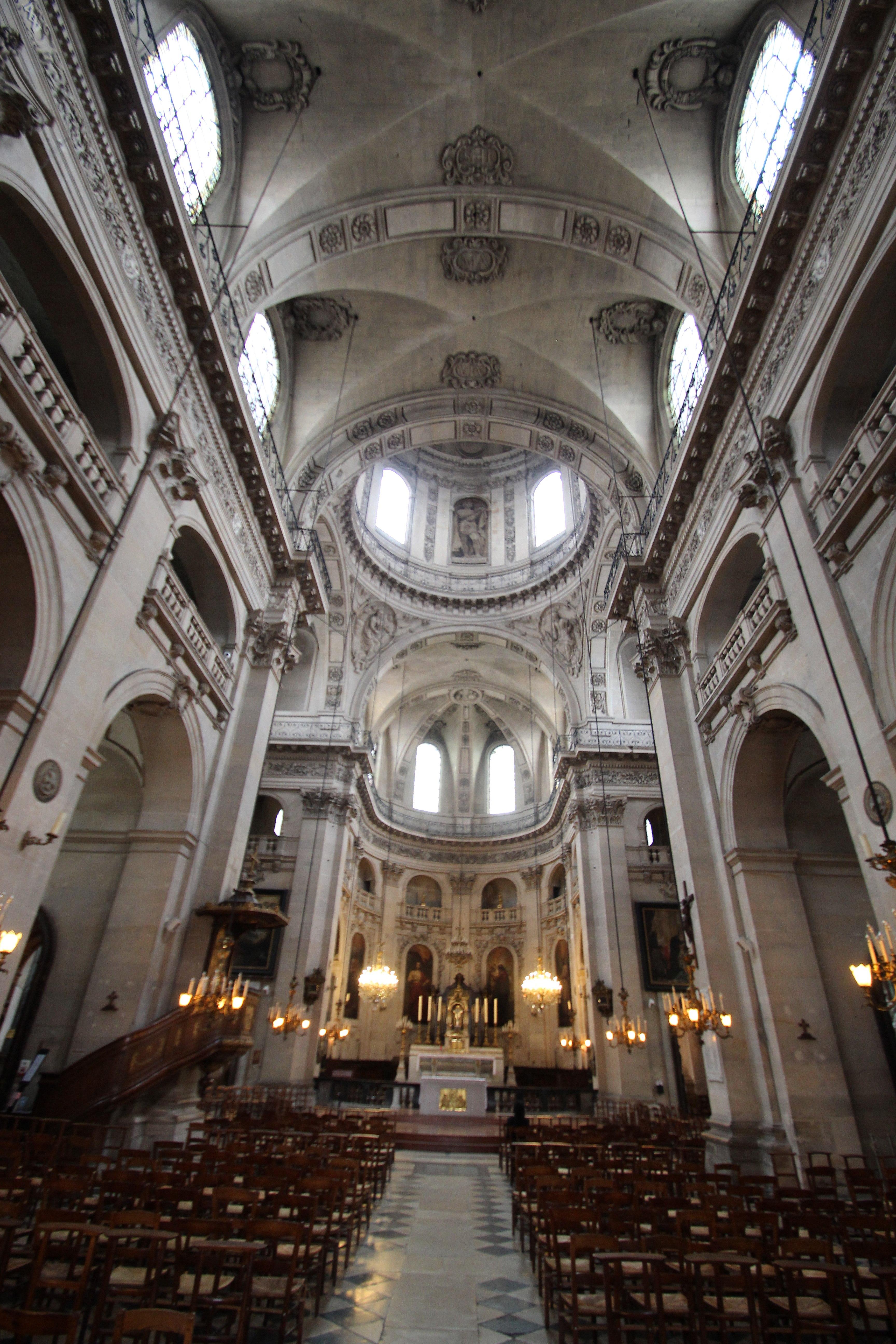 Architecte Interieur Paris 18 file:intérieur de l'église saint-paul-saint-louis à paris le
