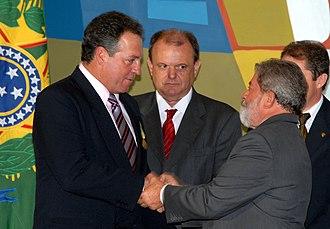Abel Braga - Abel Braga (left) with Lula in 2007