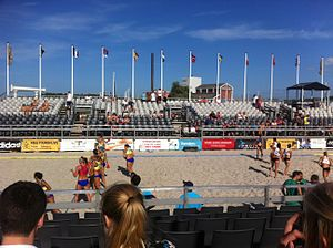 International beach handball tournament