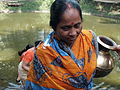 Inviting Goddess Ganga - Hindu Sacred Thread Ceremony - Simurali 2009-04-05 4050076.JPG