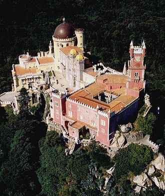 Pena Palace - The palace seen from above