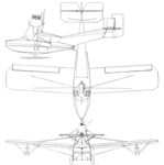 Ireland P-1 Privateer 3-view Aero Digest May,1930.png