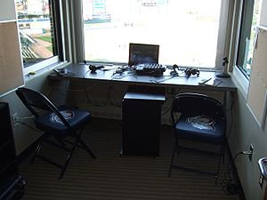 Lehigh Valley IronPigs - The Iron Pigs' home radio booth at Coca-Cola Park in Allentown, Pennsylvania.