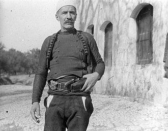 Isa Boletini - Image: Isa Boletini, Dutch Military Mission (1914)