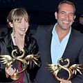 Isabelle Carré Jean Dujardin Cabourg 2011.jpg