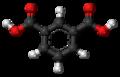 Isophthalic acid 3D ball.png