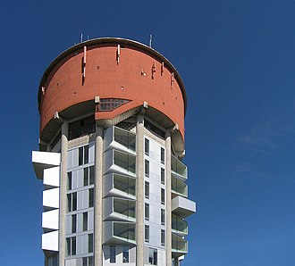 Jægersborg Water Tower - The upper part of the water tower