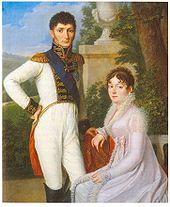 Jérôme und Katharina als König und Königin des Königreichs Westphalen, Porträt von Sebastian Weygandt (Quelle: Wikimedia)