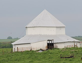 Missouri Route 48 - J. F. Roberts Octagonal Barn, located on Route 48