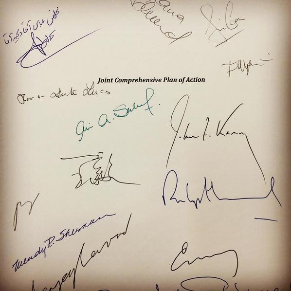 JCPOA Signatures
