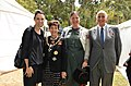 Jacinda Ardern and Patsy Reddy at Waitangi Powhiri and investiture for Sir Hec Busby.jpg