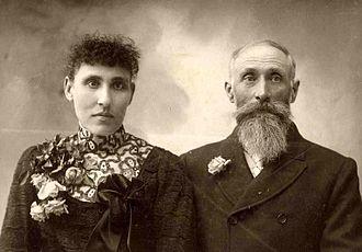 Jacob Nist - Wedding portrait of Jacob and Josephine Nist