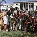 Jacqueline Kennedy feeds an elephant in India.jpg