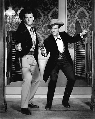 Maverick (TV series) - James Garner and Jack Kelly as Bret and Bart Maverick