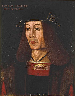 English: Porträt of James IV of Scotland; Oil ...