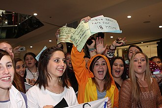The Janoskians - A group of teenage fans waiting for The Janoskians at an appearance in Sydney