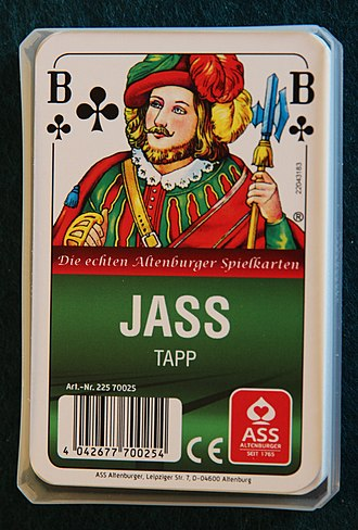 Tapp (card game) - Image: Jass Tapp card pack