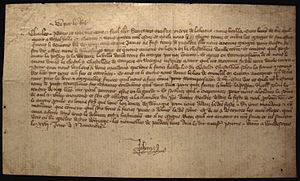 Ransom of King John II of France - King John writing during his captivity in Windsor, to his son Charles.